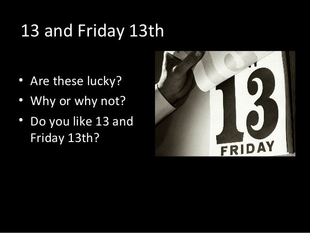 Are you superstitious for 13 a table superstition