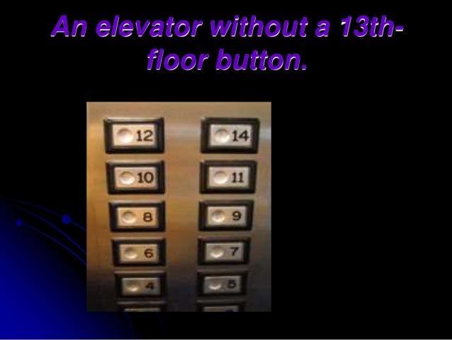 Superstitions for 13th floor superstition