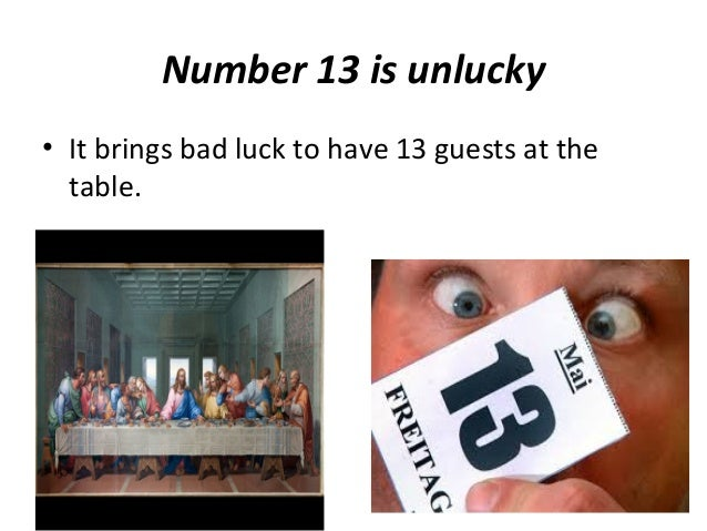 Superstitions for 13 table superstition