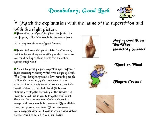 Essay About Superstitions In Egypt
