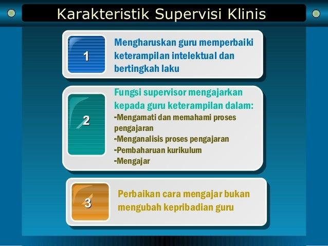 Karakteristik Supervisi Klinis 11 Mengharuskan guru memperbaiki keterampilan intelektual dan bertingkah laku 22 Fungsi sup...