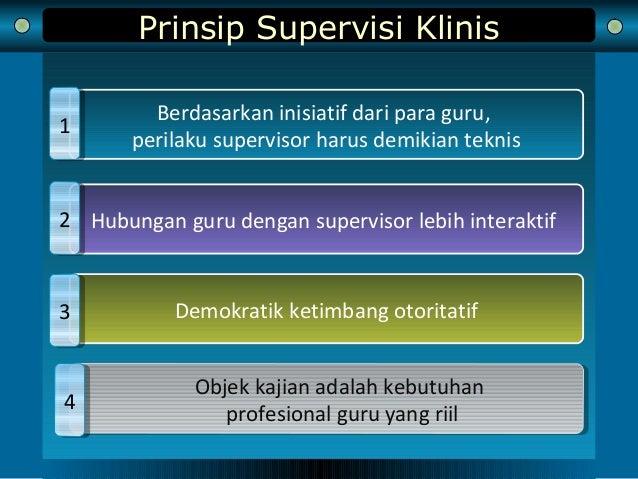 Prinsip Supervisi Klinis Berdasarkan inisiatif dari para guru, perilaku supervisor harus demikian teknis 11 Hubungan guru ...