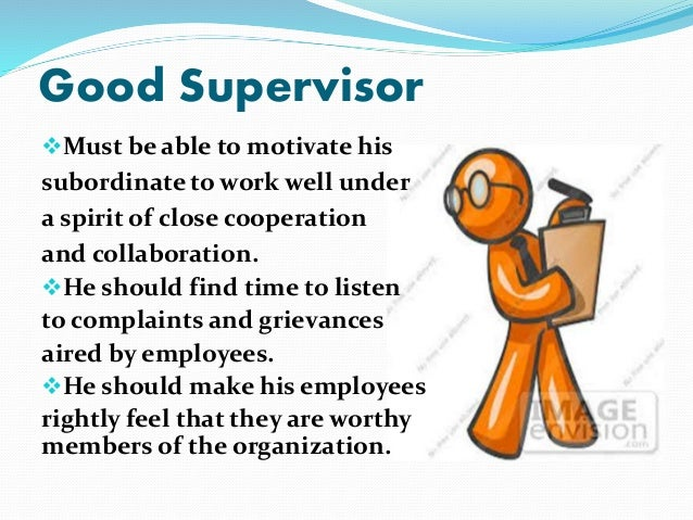 Supervising employees