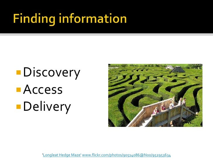  Discovery Access Delivery    Longleat Hedge Maze' www.flickr.com/photos/90514086@N00/952953634