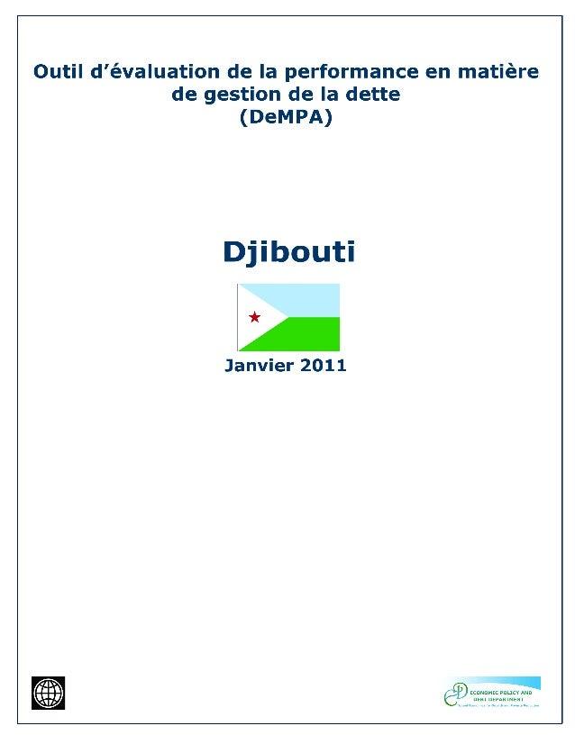 2 Abréviations BAD Banque Africaine de Développement BCD Banque Centrale de Djibouti CCDB Cour de Comptes et de Discipline...