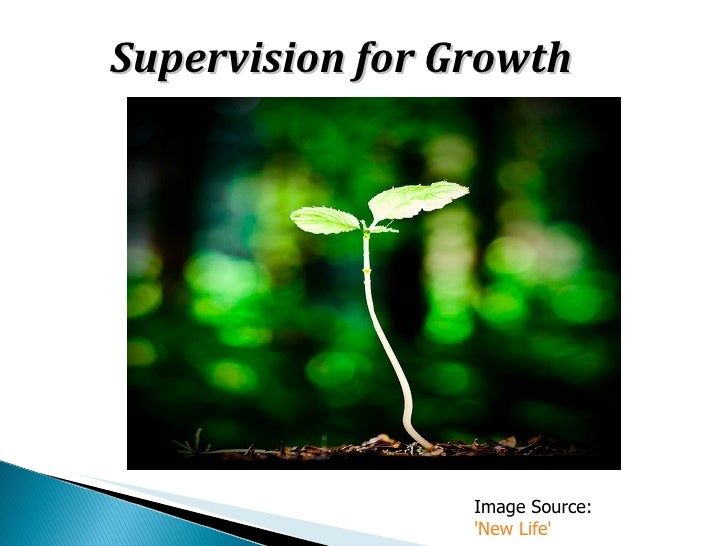 Supervision for Growth                 Image Source:                 New Life