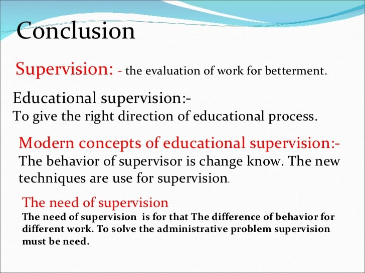 education supervision The master's program in administration and supervision provides a strong  foundation of knowledge, skills, real world experience, and innovative research  to.