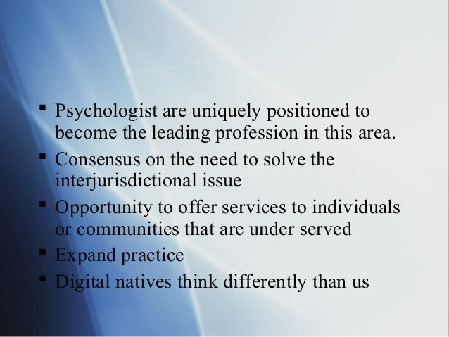 guidelines for professional practice psychology