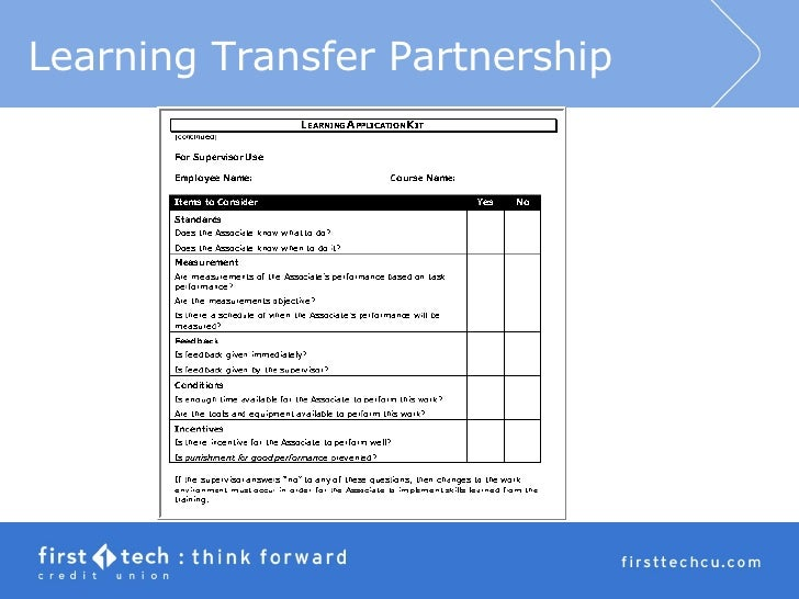 Improving Learning Transfer