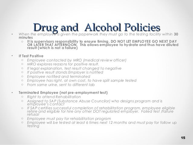 drug and alcohol policiesdrug