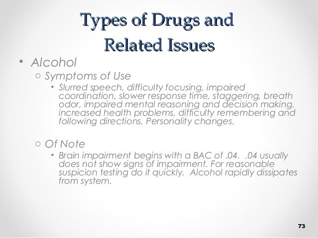 Supervisor Drug Awareness and Reasonable Suspicion by P&A