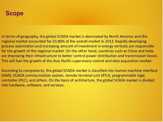 Data Acquisition And Trending : Scada supervisory control and data acquisition market