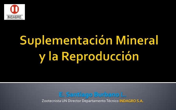 Suplementación Mineral y la Reproducción<br />E. Santiago Burbano L.<br />Zootecnista UN Director Departamento Técnico IND...