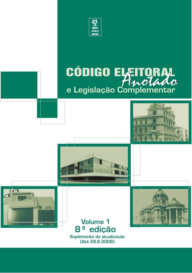 Volume 1Suplemento de atualização     (Até 28.8.2008)