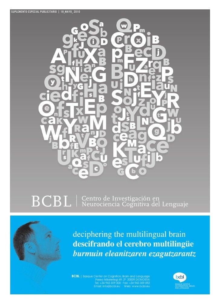 SUPLEMENTO ESPECIAL PUBLICITARIO | 18_MAYO_ 2010                  BCBL                                  Centro de Investig...