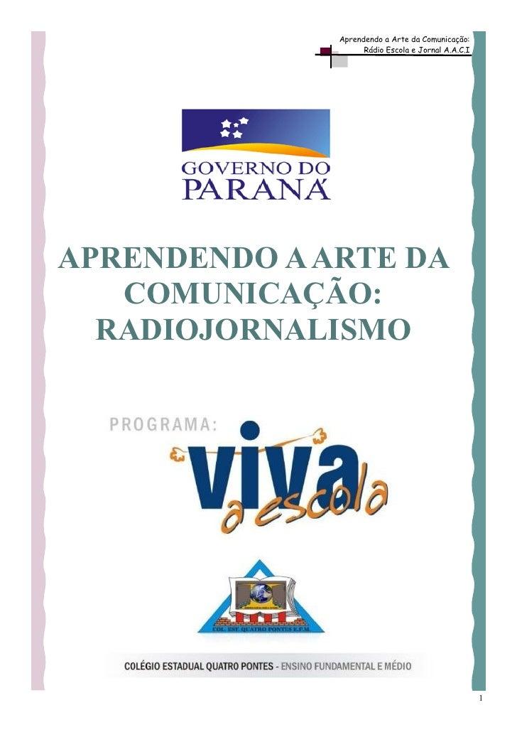 Suplemento Radiojornalismo