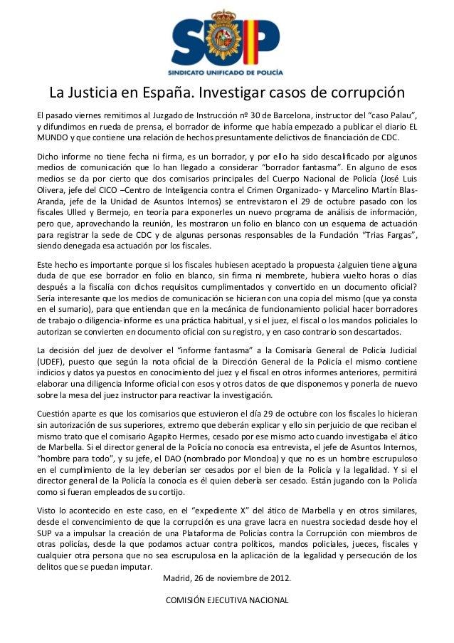 Sup la justicia en espa a investigar casos de corrupci n - Casos de corrupcion en espana actuales ...