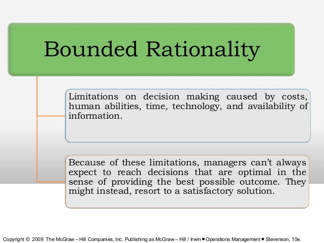 bounded rationality 1 sfb discussion paper b-454 what is bounded rationality paper prepared for the dahlem conference 1999 by reinhard selten may 1999 abstract the paper deals with bounded rationality understood in the tradition of ha simon.
