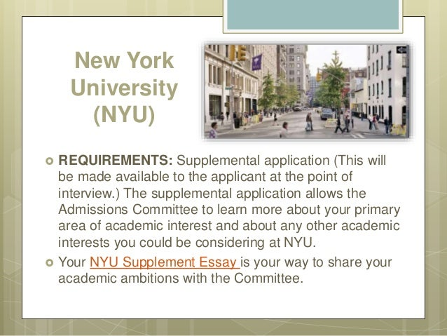 supplemental application to the top universities new york university