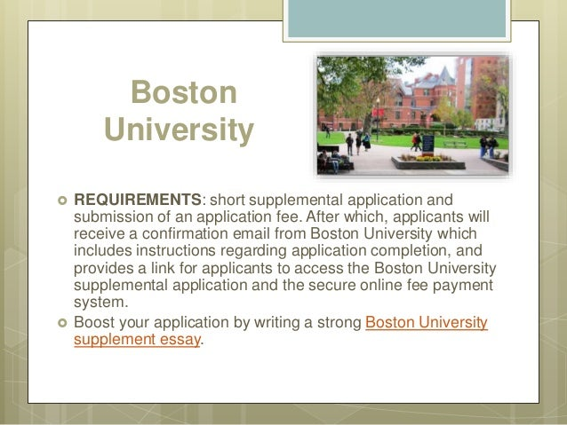 Boston university supplement essay