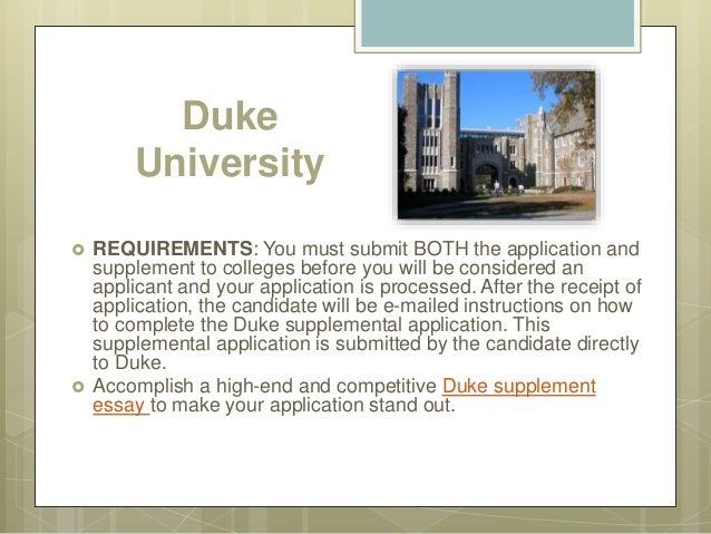 supplement essay for duke