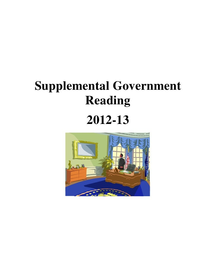 Supplemental Government       Reading        2012-13