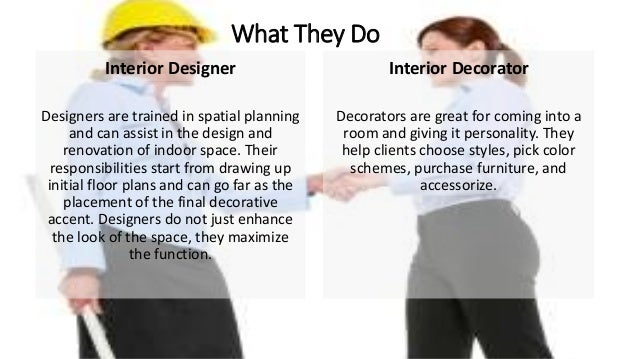 What does an interior decorator do