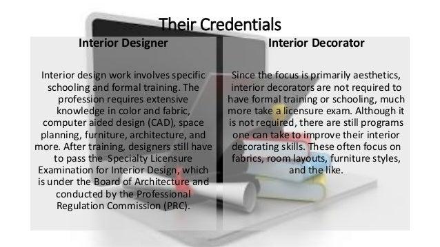 Supplemental slideshow for qa what is an interior designer for