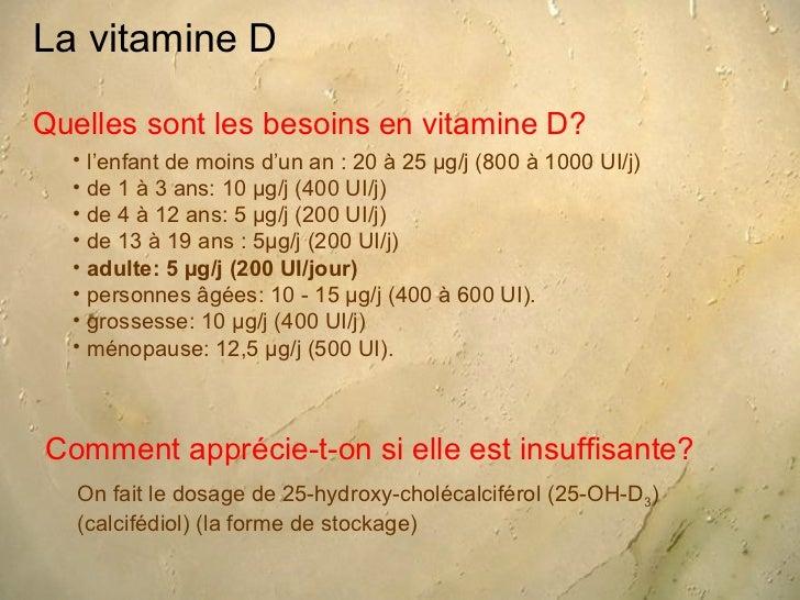 Supplémentation Vitamine D Slide 3