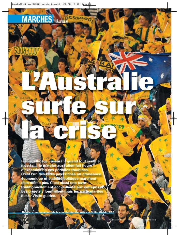 Marche551-2.qxp:CCE521_marché 2 aout2   8/09/10   9:30   Page 28       MARCHÉS                    Australie     L'Australi...
