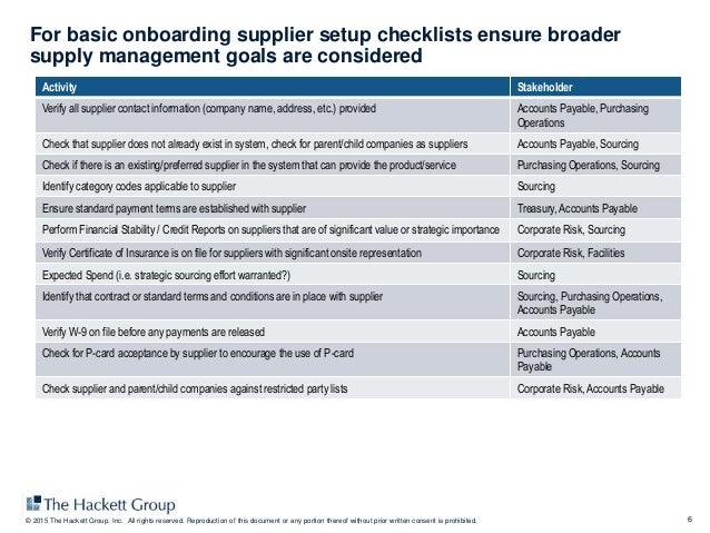 Supplier Information and Lifecycle Management