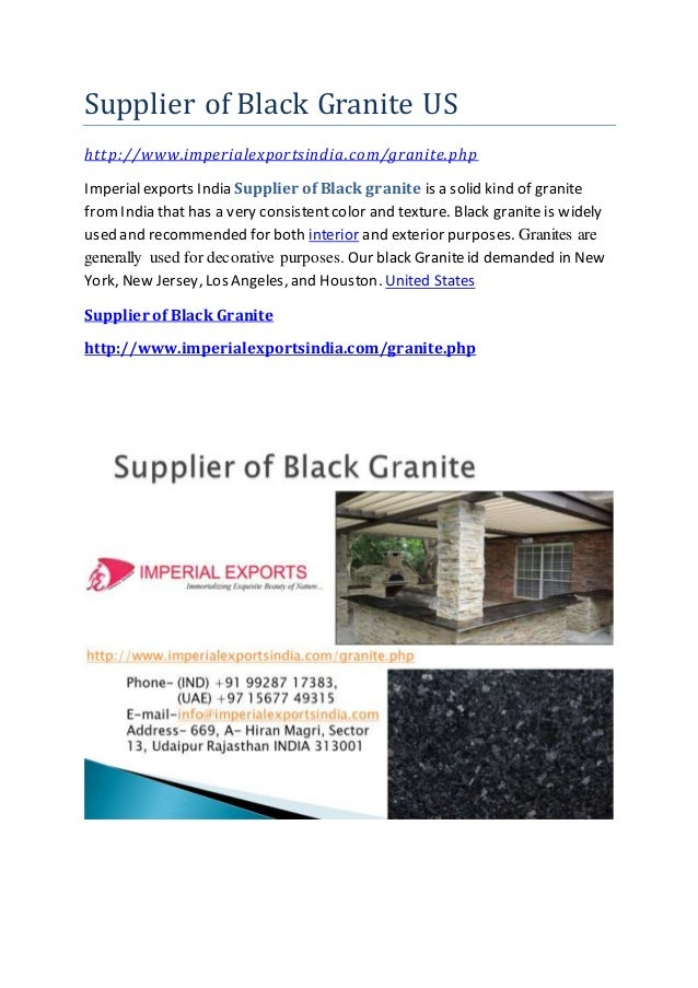 Supplier of Black Granite US http://www.imperialexportsindia.com/granite.php Imperialexports India Supplier of Black grani...