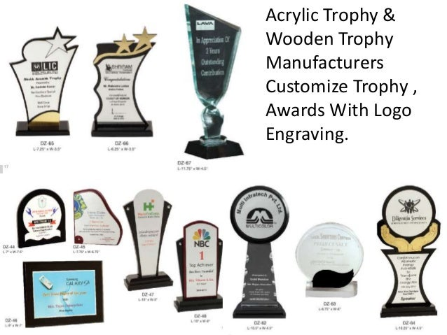 6 Acrylic Trophy Wooden Manufacturers Customize