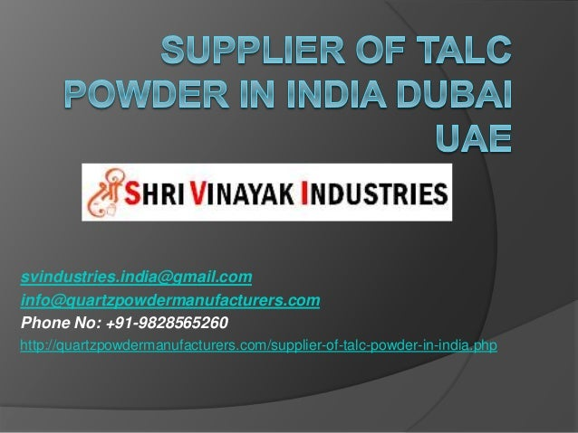 svindustries.india@gmail.com info@quartzpowdermanufacturers.com Phone No: +91-9828565260 http://quartzpowdermanufacturers....