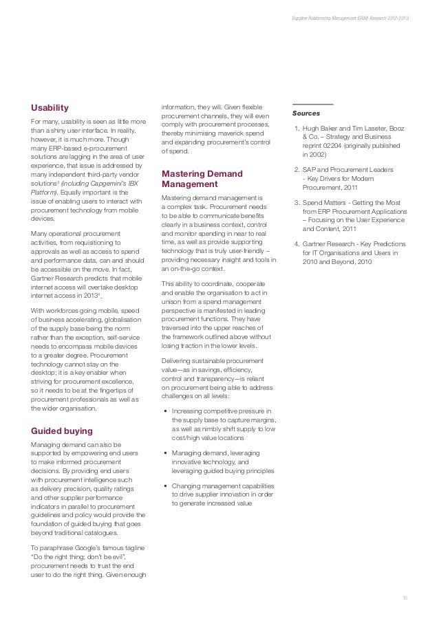 Supplier Relationship Management (SRM) Research 2012-2013: http://de.slideshare.net/salleijn/supplier-relationship-management-srm-research-20122013