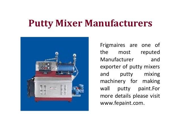 Suppliers & Manufacturers Paint Mixer