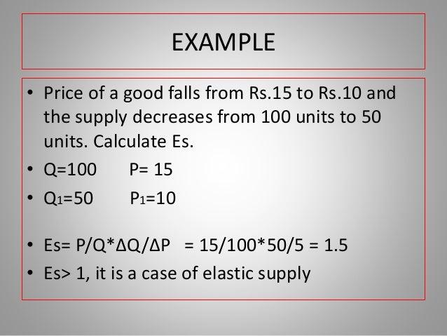 Supply Elasticity Of Supply