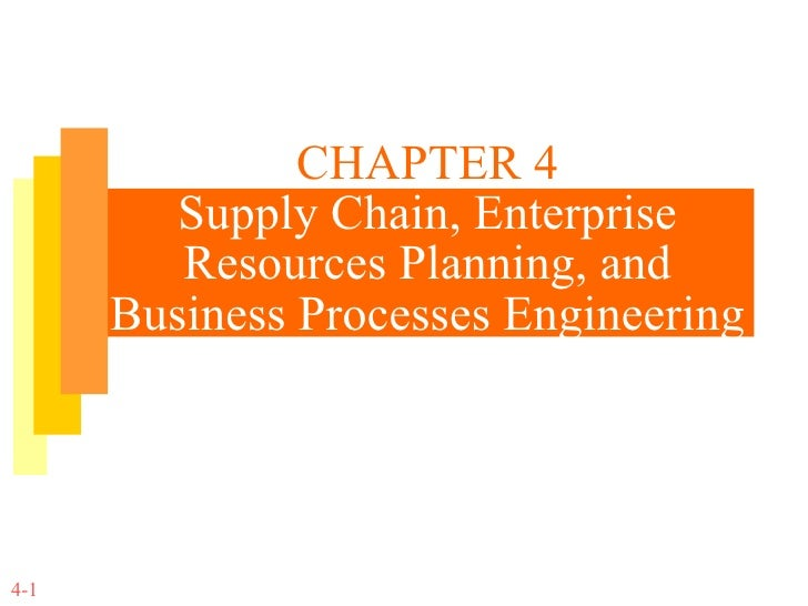 CHAPTER 4 Supply Chain, Enterprise Resources Planning, and Business Processes Engineering 4-