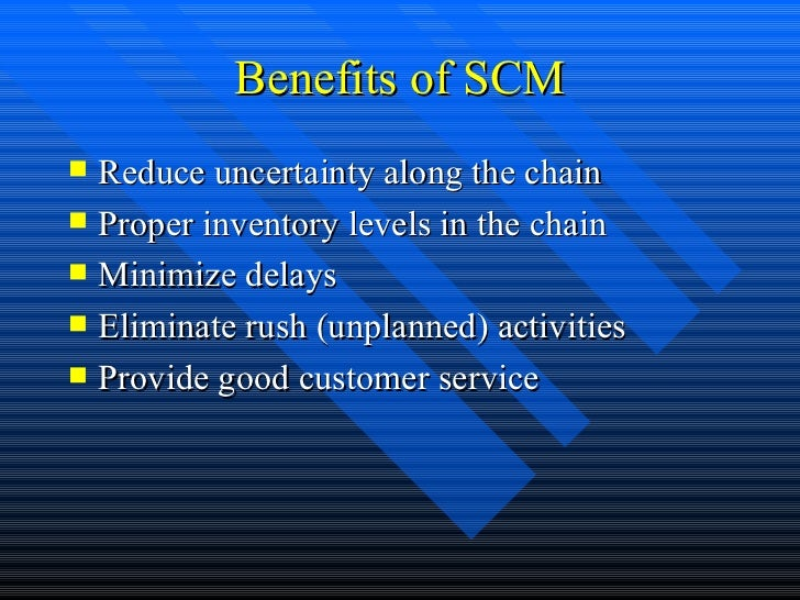 supply chain management of nirma What is supply chain management (scm) supply chain management (scm) is the active management of supply chain activities to maximize customer value and achieve a.