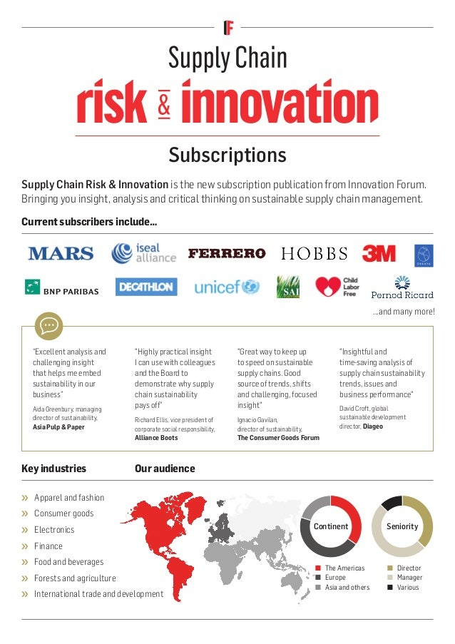 risk innovation risk innovation Keyindustries Ouraudience Subscriptions Current subscribersinclude… ...and many more! ›› ...