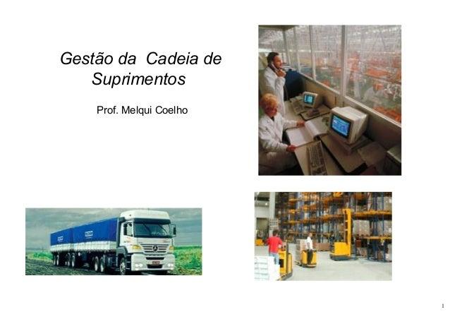 Gestão da Cadeia de Suprimentos Prof. Melqui Coelho  1