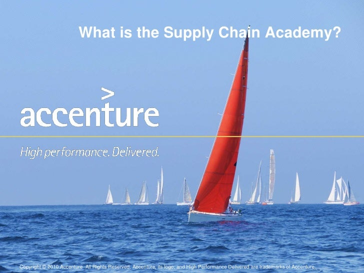 What is the Supply Chain Academy? <br />