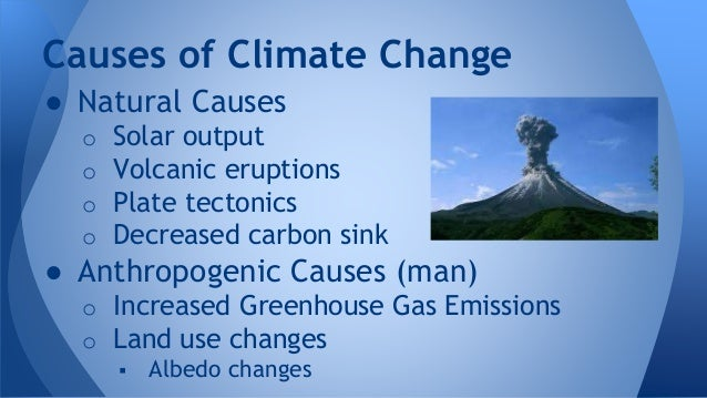 Natural and human causes of climate change