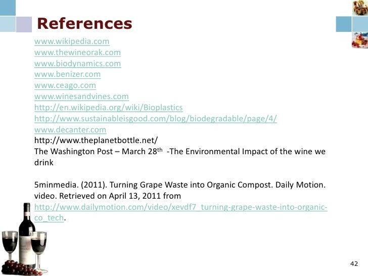 National Public Awareness & Education<br />Publications: Create Biodynamic wine course W/publication<br />Creates a credib...