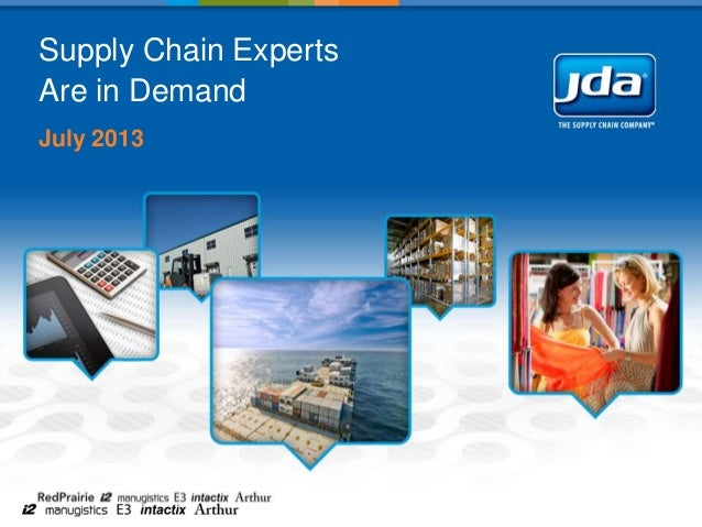 Supply Chain Experts Are in Demand July 2013