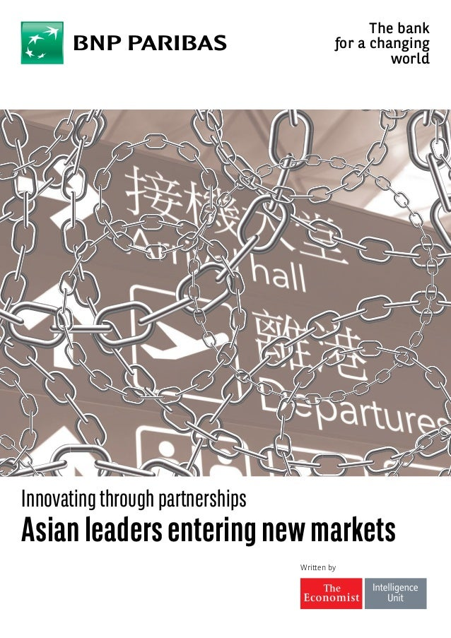 Written by Innovating through partnerships Asianleadersenteringnewmarkets The bank for a changing world