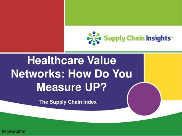 Supply chain index webinar for healthcare