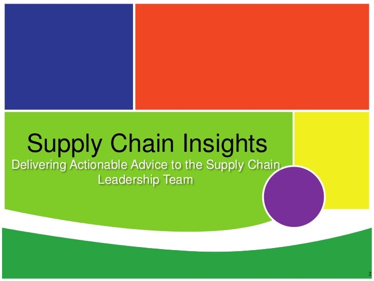 Corporate Overview of Supply Chain Insights LLC