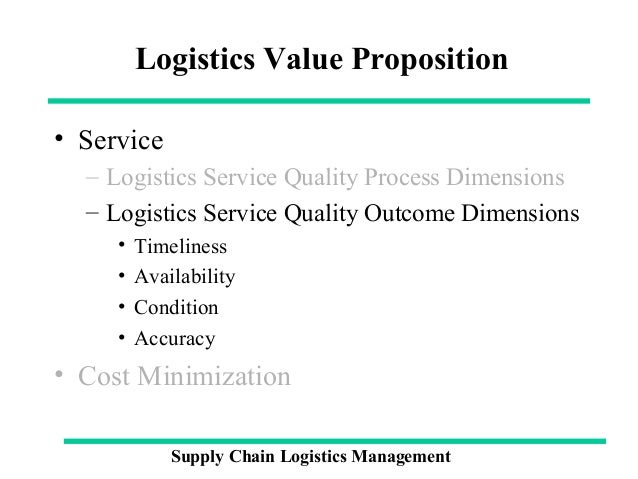 quality management in logistics Quality management professionals need to realize that quality  as a major aspect of the supply chain, logistics can potentially be a nightmare.