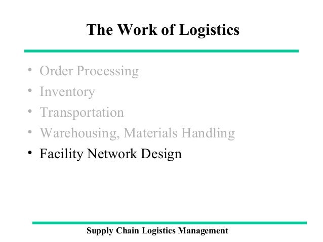 logistics supply chain management and materials The council of logistics management defines a supply chain as the material and  informational interchanges in the logistical process stretching from acquisition.